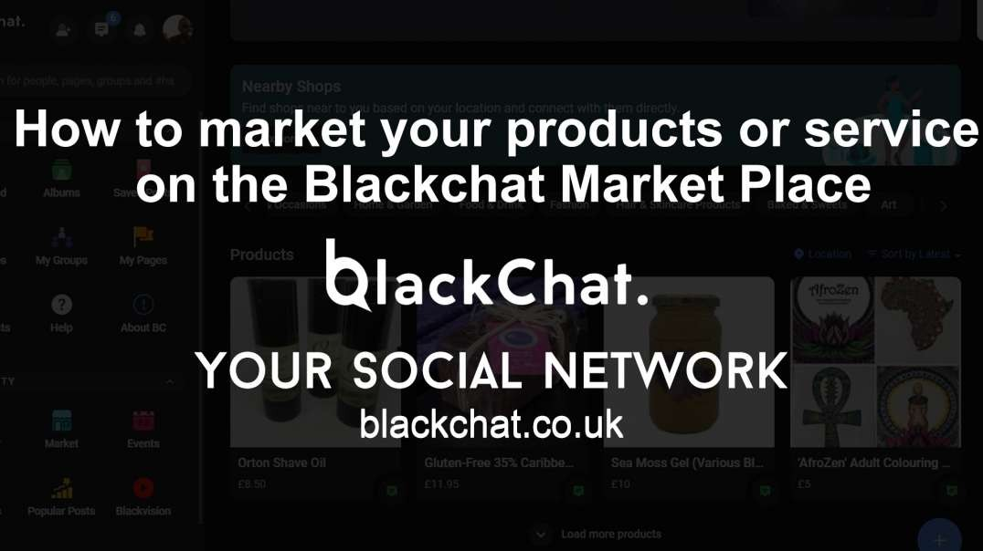 How to market your product or service on the blackchat market place
